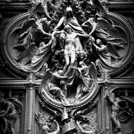 Doors of Duomo. Milan 2016
