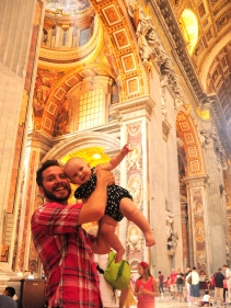 Bill and me, after walking through the Holy Doors at St. Peter's Basilica during the Year of Mercy.